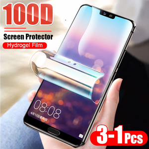3-1Pcs Protective 100D Hydrogel Film For Huawei P10 Lite P20 P30 Pro Screen Protector For Huawei Mate 10 20 Pro Film Not Glass(China)