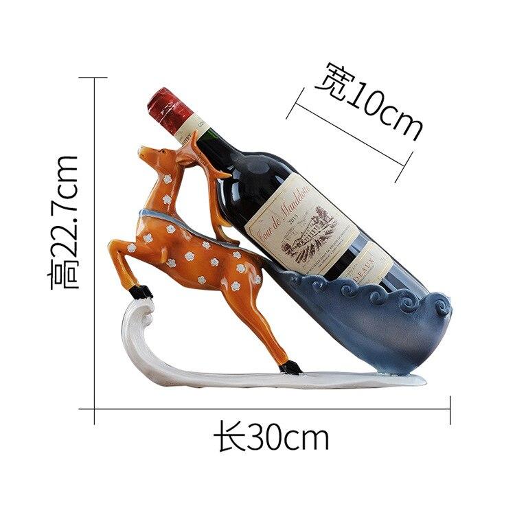 Креативный олень орнаменты украшения для дома гостиная винный шкаф смолы фигурки животных Изысканные Подарки - 6