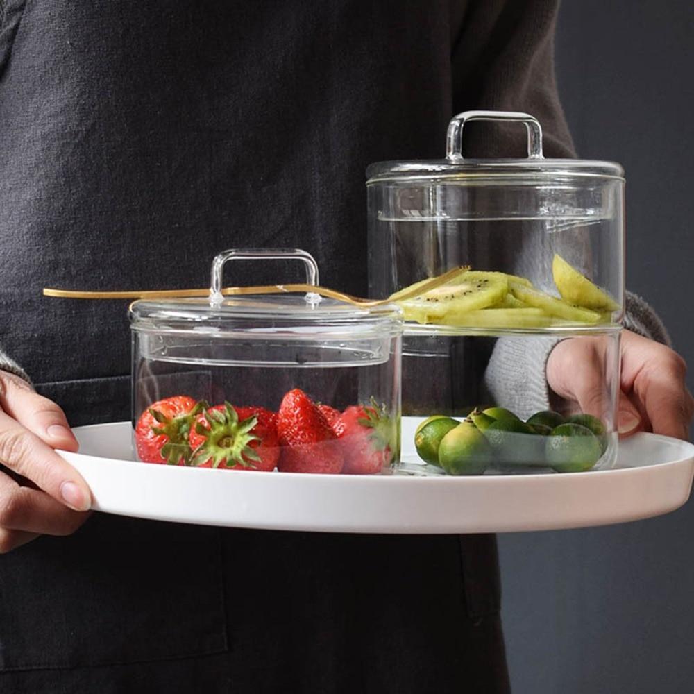 Bowl With Lid 19 cm Handmade Glass Jar Chocolate Box