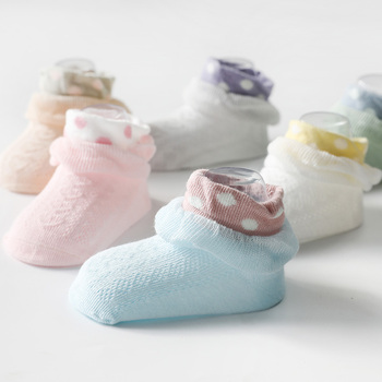 2Pairs / lot 0-2Y Infant Baby Socks Baby Socks for Girls Cotton Mesh Cute Newborn Boy Toddler Socks Baby Clothes Accessories cow pattern socks 2pairs