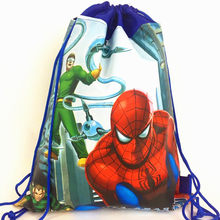 LISM 1pcs/lot Spiderman Cartoon New Backpack Non-woven Fabrics Back Pack Drawstring Batman Bags Spider Man Children School Bag(China)