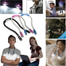 LED Neck Night Light Flexible Knitting Crocheting Book Light Handsfree Reading Lamp Indoor Lighting 4 Colors Battery Operated