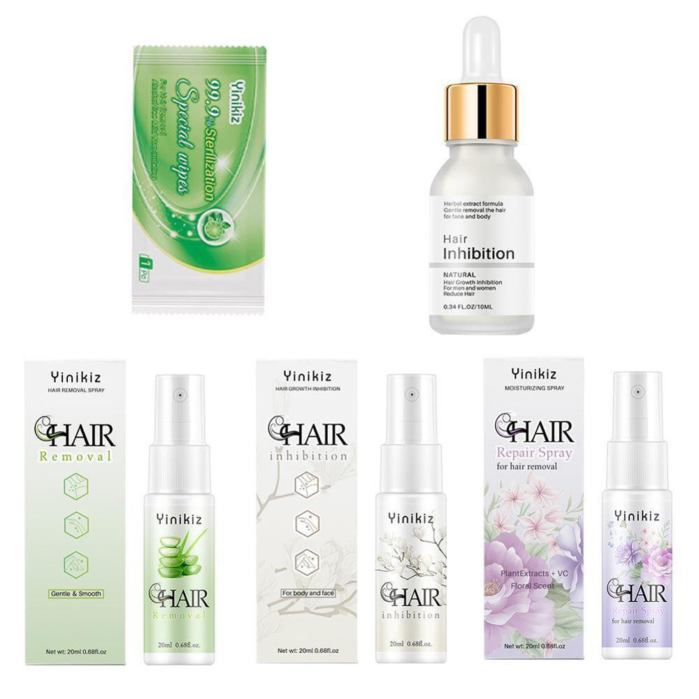 Спрей для ингибирования роста волос, крем для перманентного удаления волос, набор, эссенция, безболезненный, для бороды, ног, подмышек