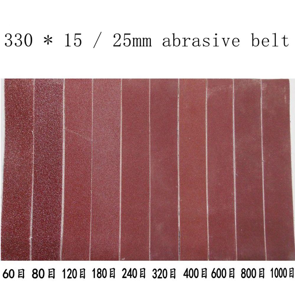 Small Mini Belt Machine DIY Polishing Machine Grinding Machine Sharpening Knife Mini Blade 330 * 15 / 25mm Abrasive Belt