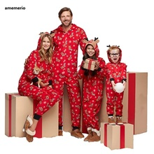 Family Pajamas Outfits Looking-Jumpsuit Christmas Baby Son Romper