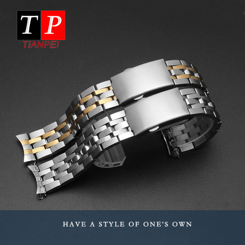 stainless steel <font><b>watch</b></font> band for Tissot 1853 T17 T461 T014 <font><b>PRC200</b></font> fine steel <font><b>watch</b></font> strap waterproof replacement strap 19mm 20mm image