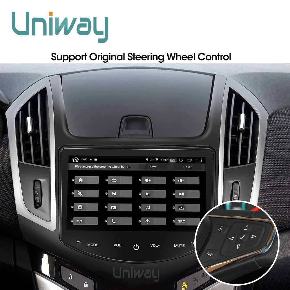 Uniway axklz8071 2 din android 9.0 carro dvd para chevrolet cruze 2013 2014 2015 rádio do carro navegação gps com volante