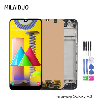 For Samsung Galaxy M31 M315 M315F/DS LCD Display Touch Screen Digitizer Assembly For Samsung M315 LCD Replacement for samsung galaxy s3 tft lcd display lcd touch screen digitizer assembly with frame for samsung galaxy s3 i9300 i9300i i9308i