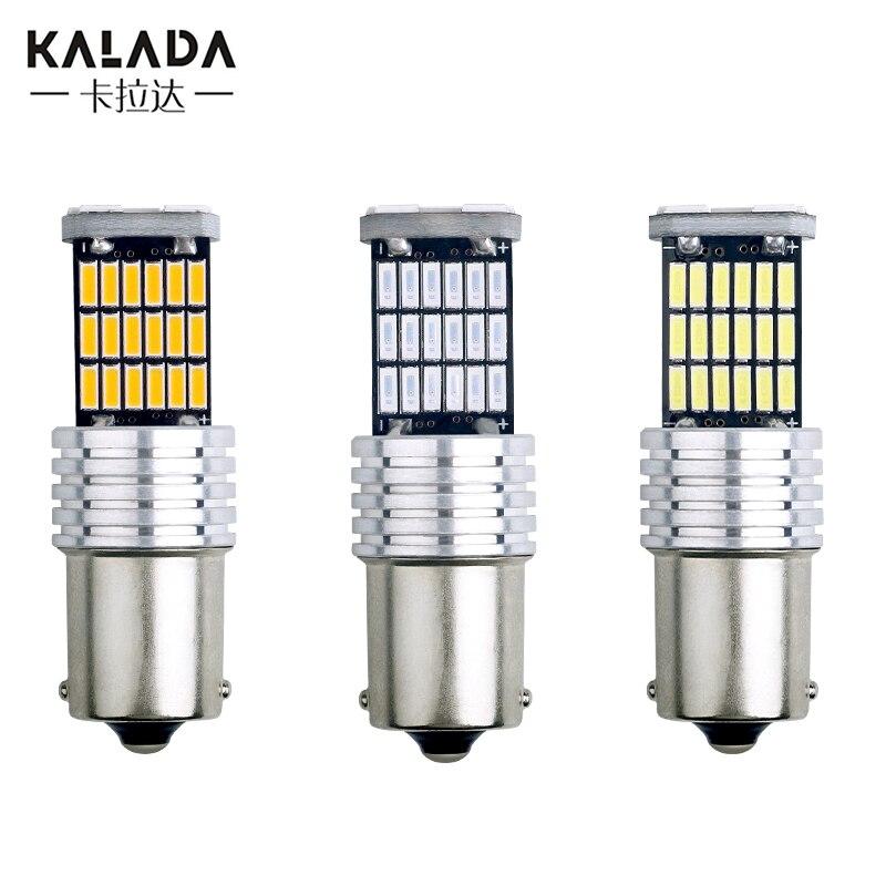 10 шт., Автомобильные светодиодные лампы для указателей поворота, 1156 Ba15s P21W 1157 Bay15d P21/5W T20 7443 W21/5W T25 3157 P27/7W