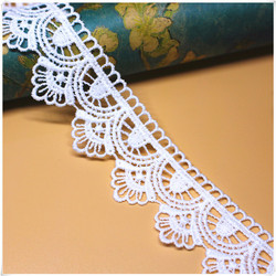 1Yards High Quality Lace Fabric Curtain Guipure 3.5cm Lace Embroidery Lace Ribbon Sewing Wedding Clothing Collar encajes QW14