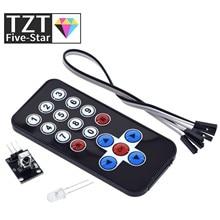 TZT 1LOT Infrared IR Wireless Remote Control Module Kits DIY Kit HX1838 For Arduino Raspberry Pi