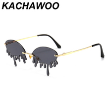 Kachawoo funny sunglasses women fashion gold red vintage sun glasses for