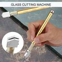 New Upgrade Diamond Glass Cutter Metal Handle Steel Glass Rhinestone Self-lubricating Oil Feed Tipped Cutting Craft Glazing Tool