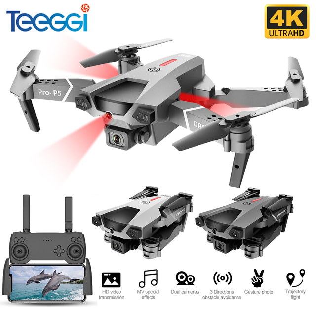 Teeggi P5 Mini Drone with HD 4K Dual Camera Professional Aerial Photography Infrared Obstacle Avoidance Quadcopter RC Helicopter 1