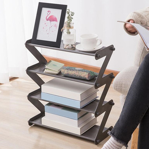 4 Layers Stainless Steel Assembly Shoe Rack Non-woven Simple Shoe Rack Bookshelf Home Living Room Shoes Storage Organization