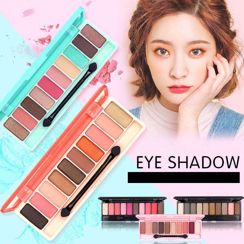 Image 2 - ブランド桃マットアイシャドウパレット赤防水ピンク桜グリッターアイ Palet 韓国化粧品 Oogschaduw D43    グループ上の 美容