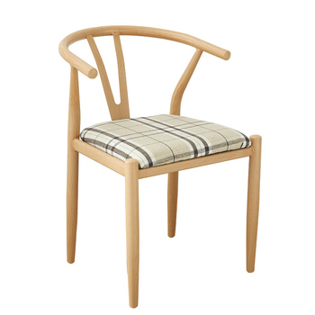 Wrought iron y chair back teacher chair chinese restaurant table and chair home imitation solid wood tea chair nordic simple cir