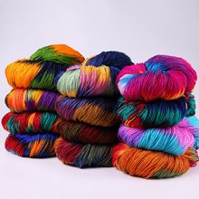 50g/Ball-Mixed Weaving Crochet-Thread Acrylic Hand-Knitted Sweater-Scarf Colorful Dyed
