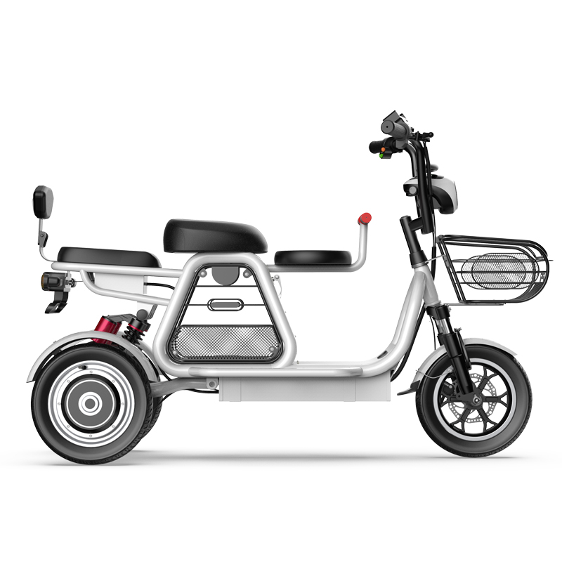 2020 new electric bike parent-child 3 wheels electric bicycle large lithium battery 12inch e bicycle 500W 48V powerful e bike
