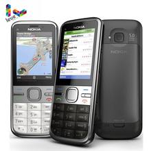 Orijinal Nokia C5 Unlocked Nokia C5-00 C5-00i 3.15 & 5MP Bluetooth Desteği Rusça İbranice ve Arapça Klavye Yenilenmiş Cep telefon