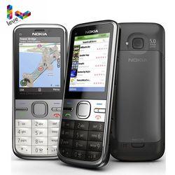 Перейти на Алиэкспресс и купить original nokia c5 unlocked nokia c5-00 c5-00i 3.15&5mp bluetooth support russian&hebrew&arabic keyboard refurbished mobile phone
