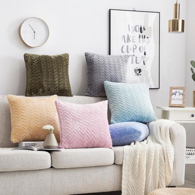 Soft Plush Cushion Cover 5
