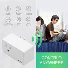 Новейшая умная розетка управление через телефон по WiFi болт-заглушка отверстий синхронизации двигателя Голосовое управление розетка US Plug работает с Alexa совместимый/Google Assistant