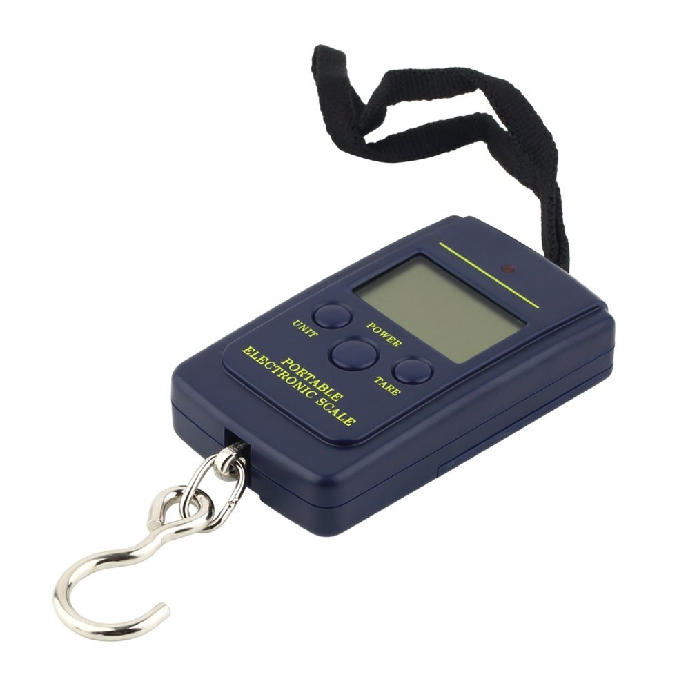 Durable Portable 40kg/10g LCD Digital Display Electronic Hanging Fishing Digital Pocket Weight Hook Scale Pocket Size