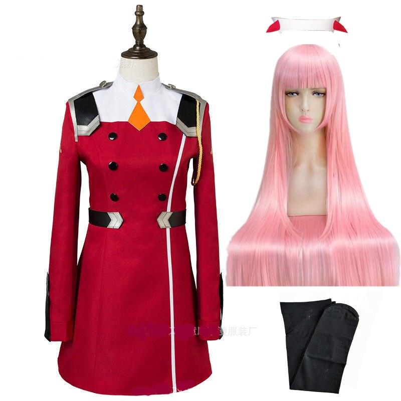 02 Zero Two Косплей Костюм Дарлинг в франкс Косплей DFXX женский костюм полный комплект платье - Цвет: package B