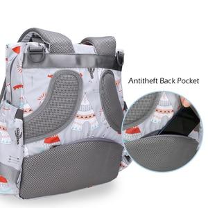 Image 3 - アラメダおむつバックパックバッグ大ミイラ産科バッグ旅行おむつバッグ主催のためのベビーカーベビーケア屋外