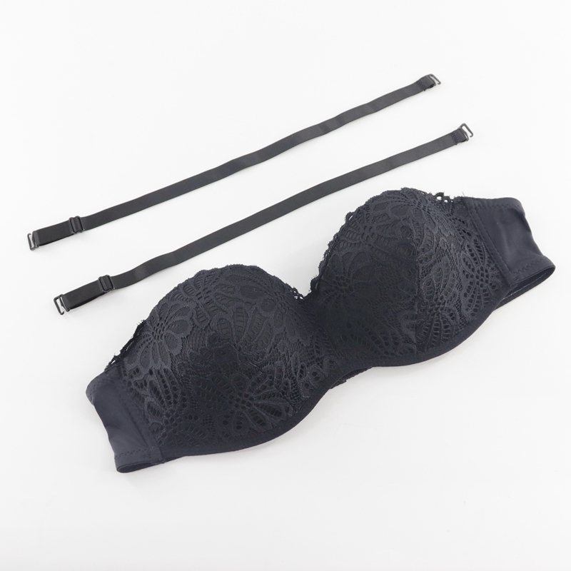 2019 Summer Sexy Lace Half Cup Strapless <font><b>Bra</b></font> Push High Invisible <font><b>Bra</b></font> Female Steel Ring <font><b>Bra</b></font> <font><b>XL</b></font> #2019.7.30 image