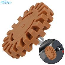 """1/4 """"20mm Shank גומי מחק גלגל ליטוש גלגל מדבקות מסיר לרכב דבק מדבקות ומדבקות אוטומטי תיקון צבע כלי"""