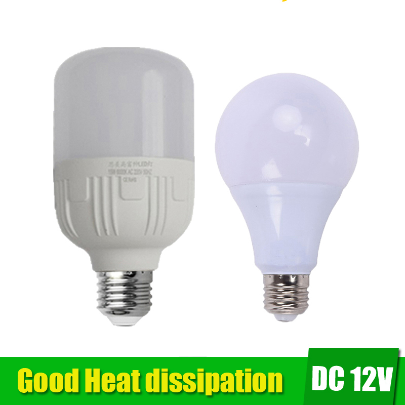 12Volt E27 Led Bulb Energy Saving Light 36W 24W 18W 12w Light Bulbs Lamp dc 12v Light lampada For Solar Battery Outdoor Lighting