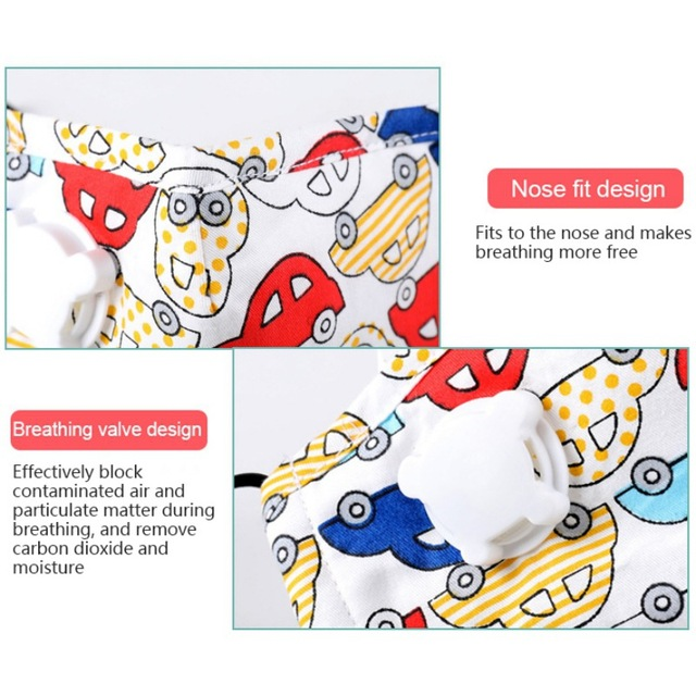 PM2.5 Kids Face Mask Anti Dust Mouth Children Mask Cartoon Printed Cute Mask For Children In Stock 5