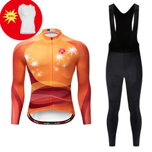 2019 Pro Team Men Long Sleeve Cycling Clothing ciclismo hombre cycling Jersey Winter Thermal Fleece Cycling Jersey Bib Pants Set paladinsport men s skull pattern long sleeved cycling jersey pants set black red size xl