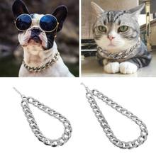 Fashion Necklace Thick Chain Pets Dog Jewelry Collar Neck Ring Pet Accessories(China)