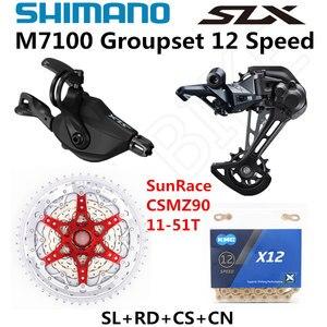 Image 2 - SHIMANO DEORE SLX M7100 Groupset MTB Mountain Bike 1x12 Speed 51T SL+RD+CSMZ90+X12 M7100 shifter Rear Derailleur