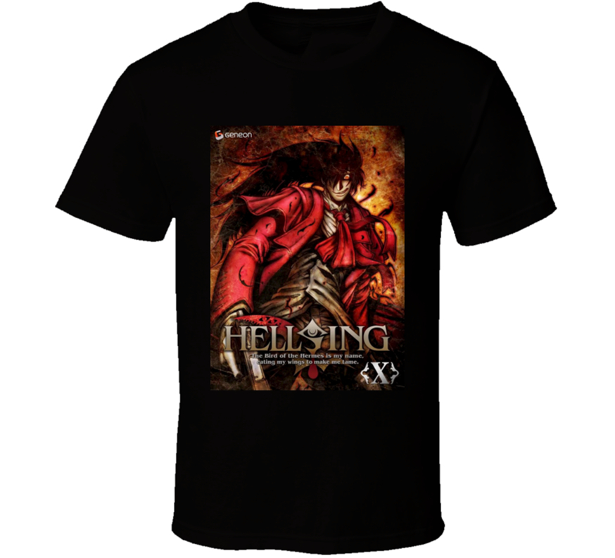 New Hellsing Ultimate Anime Tv Show Poster Men'S T-Shirt Size S-2Xl Top Quality Tee Shirt image