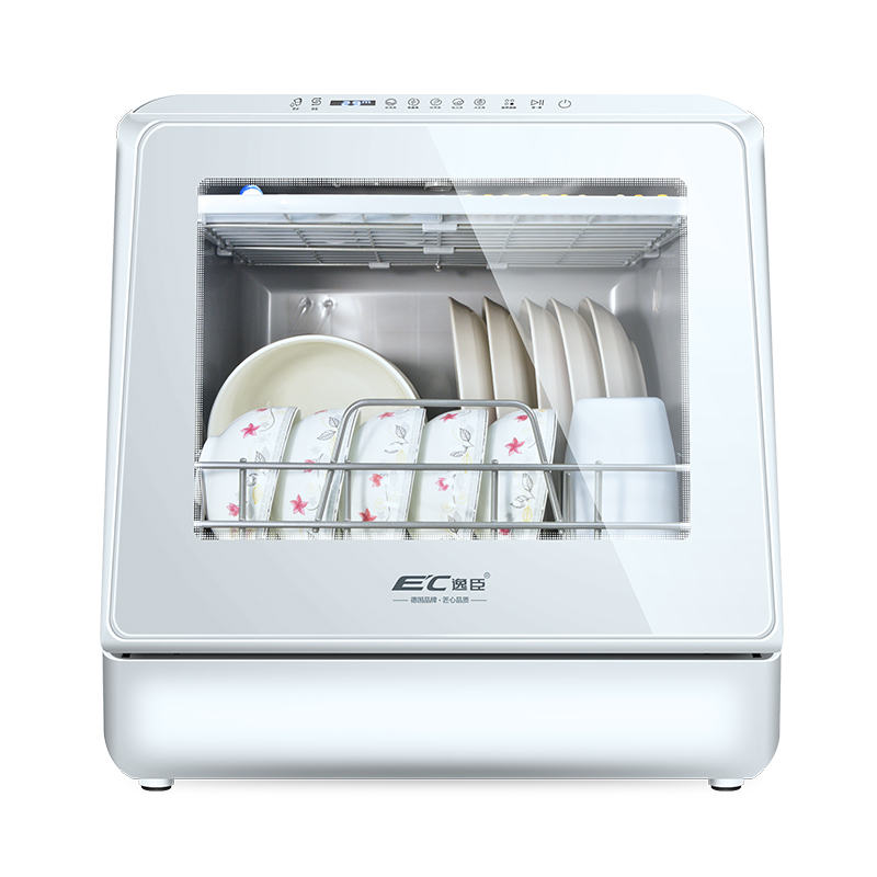 Fully Automatic Dishwasher Home Large-capacity Benchtop Installation-free Small Hot Air Dryer
