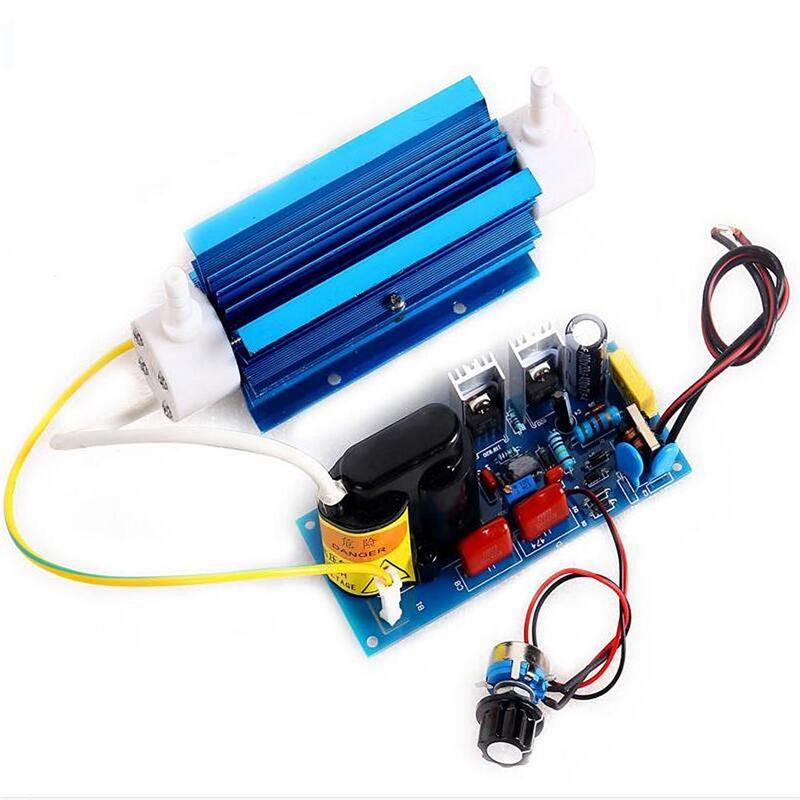 5g 110V/220V Silica Tube Ozone Generator Module Ozone Output Adjustable Open Power Pack Sterilization Detoxification