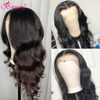 Bouncing Body Wave Lace Front Wigs Natural Color Glueless Human Hair Wigs 150% Density Brazilian Remy 13x4 Human Hair Wigs