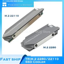 Thermalright PC Radiator M 2 SSD 2280 22110 chłodnica grzejnika półprzewodnikowy aluminiowy Radiator aluminiowa osłona kamizelki podwójne boki tanie tanio CN (pochodzenie) Dysk twardy 40 000 godzin Brak RPM TR-M 2 Z aluminium SSD Cooler 75(103) mm x 22 7 mm x 11 7 mm Black + Gray