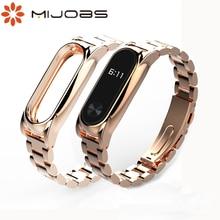 Pour Mi Band 2 Bracelet en métal Original pour Xiaomi Mi Band 2 Bracelet Bracelet en acier inoxydable bracelets remplacer les accessoires