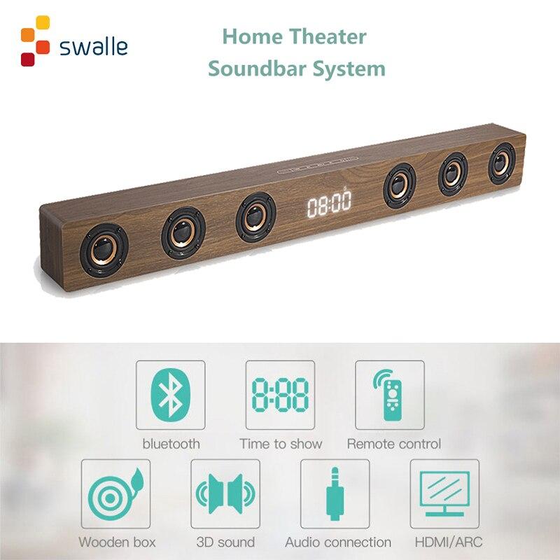 Swalle Bluetooth динамик домашний кинотеатр Саундбар супер бас беспроводной компьютер ПК ТВ динамик сабвуфер микрофон FM радио
