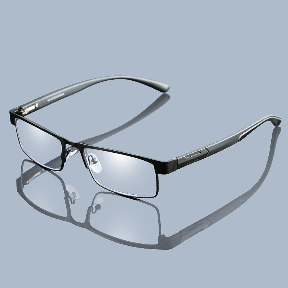 Men Titanium Alloy Reading Glasses Non Spherical 12 Layer Coated Lenses Retro Business Hyperopia Prescription Eyeglasses Z267