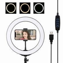 Светодиодный кольцевой светильник с подставкой 10 дюймов кольсветильник