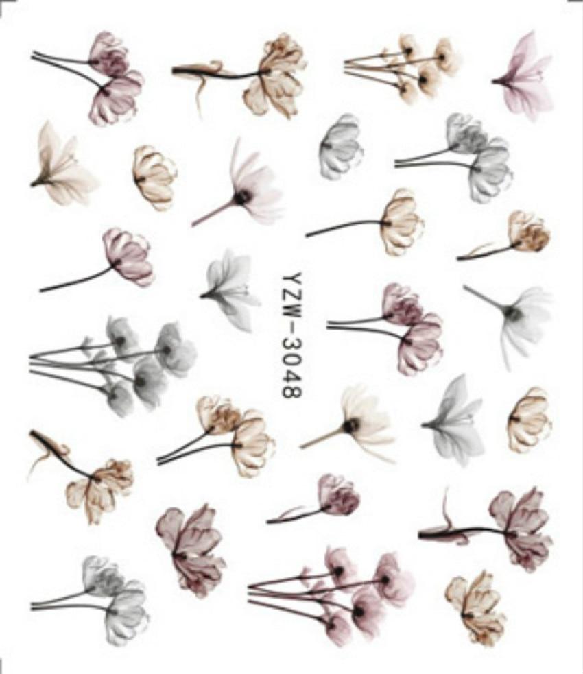 Горячая Распродажа Kawaii 3D наклейки на ногти цветок клейкий DIY маникюр слайдер олень/Лаванда дизайн ногтей