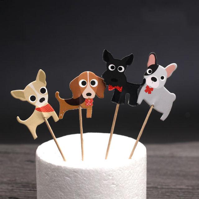 Puppy Dog Cupcake Topper Set 24 Pcs