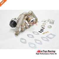 MTP RACING 3mm thick 38mm steam pipe T3 Flange Top Mount Manifold V band+44mm Wastegate For R32 R33 RB20DET RB20 RB25 RB25DET