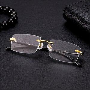 Image 2 - Vazrobe Reading Glasses Men Glass Lens Anti Scratch Diopter Sunglasses Man Rimless Crystal Anti Eye Dry Eyewear
